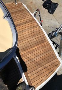 Pannello in Teak navale per utilizzo su barca